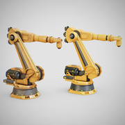 Industrial Robot Arm - Generic 01 (Clean & Dirty) 3d model