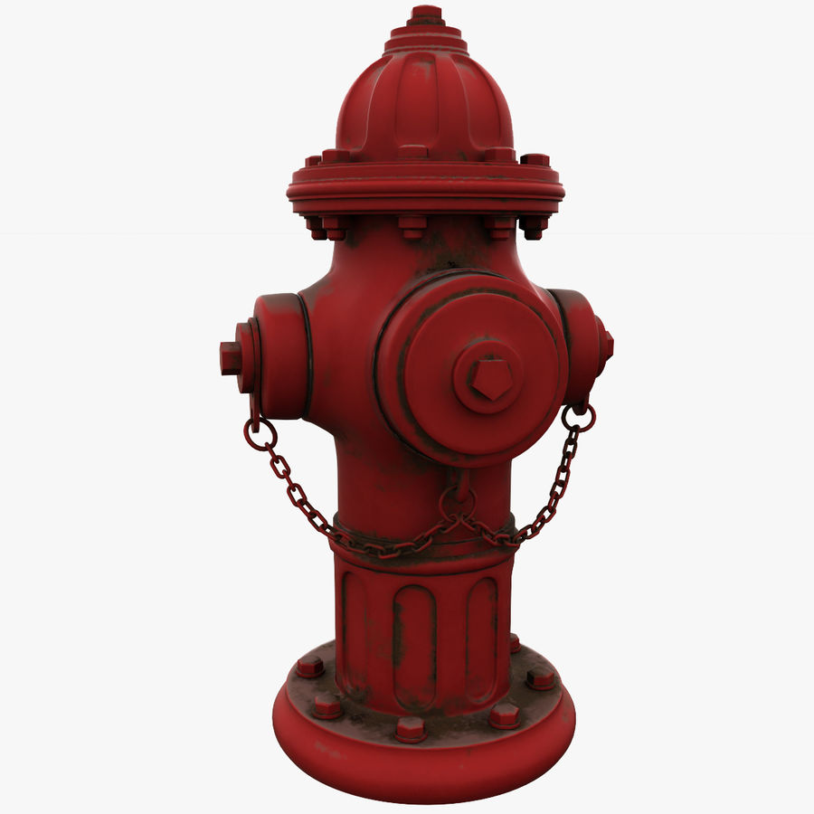 Fire Hydrant royalty-free 3d model - Preview no. 1