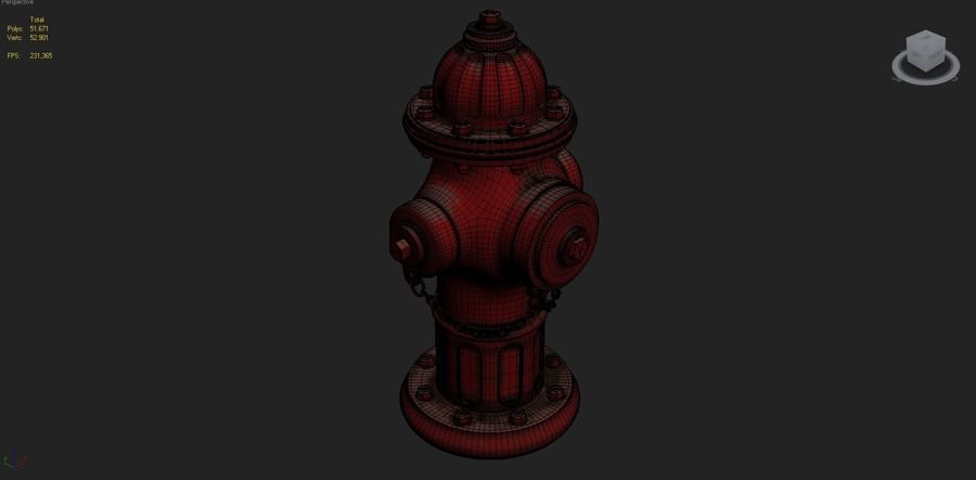 Fire Hydrant royalty-free 3d model - Preview no. 13
