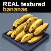 Bananas texture 3d model