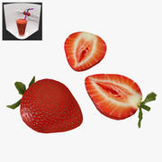 草莓低聚 3d model