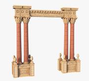 Classic Arch Columns 3d model
