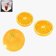 Arancione a basso contenuto di poli 3d model