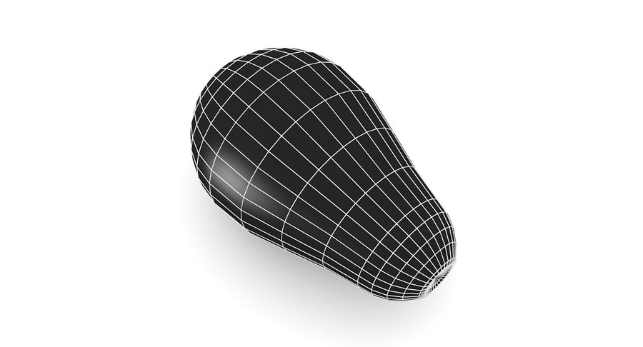 Avocado Low-Poly royalty-free 3d model - Preview no. 8