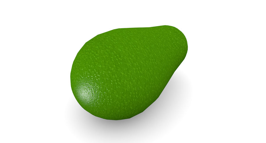 Avocado Low-Poly royalty-free 3d model - Preview no. 4