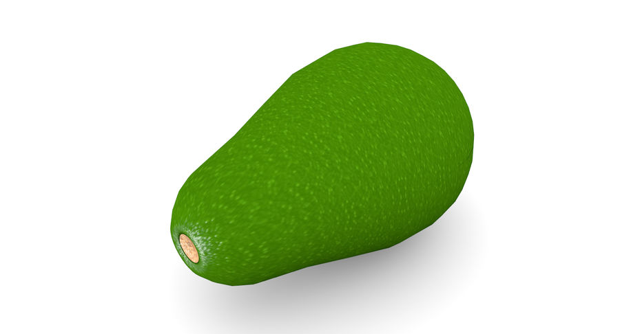 Avocado Low-Poly royalty-free 3d model - Preview no. 5