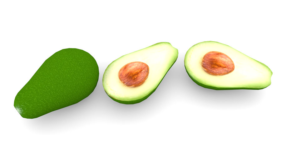 Avocado Low-Poly royalty-free 3d model - Preview no. 6