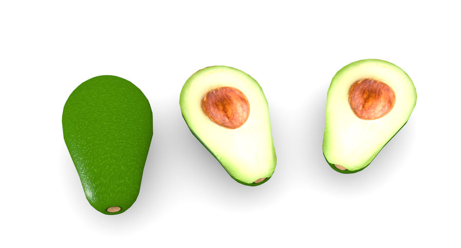 Avocado Low-Poly royalty-free 3d model - Preview no. 7