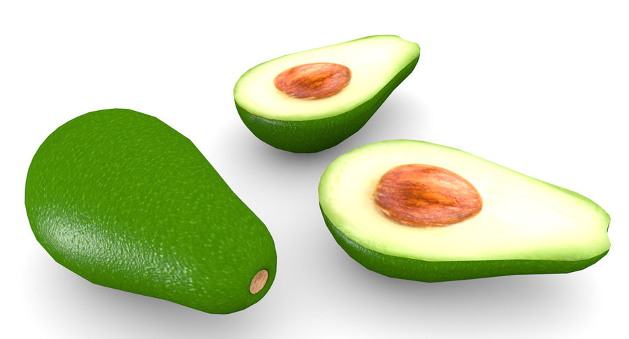 Avocado Low-Poly royalty-free 3d model - Preview no. 2