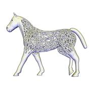 gran caballo de estilo voronoi modelo 3d