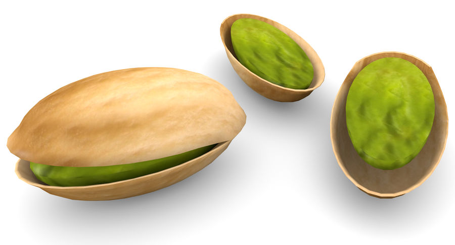 Pistachio Low-Poly royalty-free 3d model - Preview no. 2