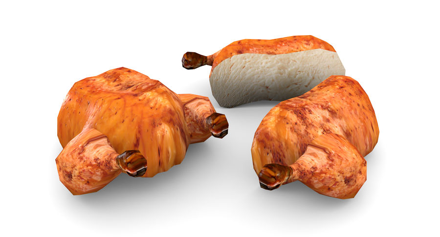 Chicken Low-Poly royalty-free 3d model - Preview no. 6