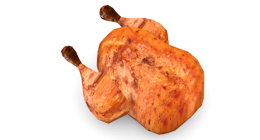 Chicken Low-Poly royalty-free 3d model - Preview no. 4