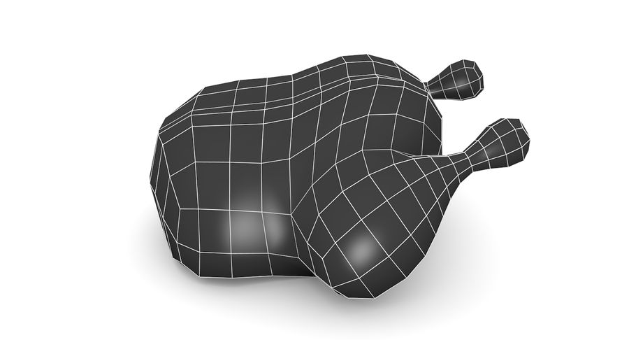 Chicken Low-Poly royalty-free 3d model - Preview no. 8