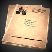 Gamla sovjetiska anteckningsbok PBR-spel redo 3d model