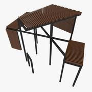 Pergola à structure décorative 3d model