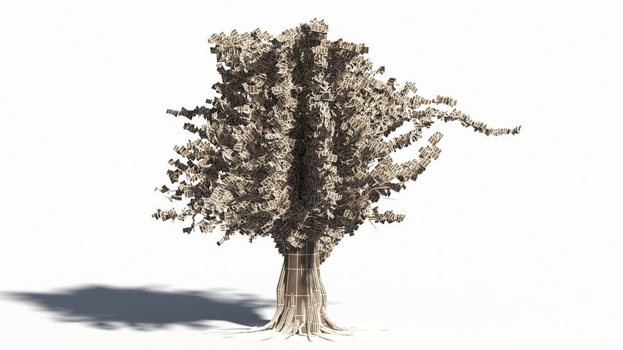 Árbol realista royalty-free modelo 3d - Preview no. 13