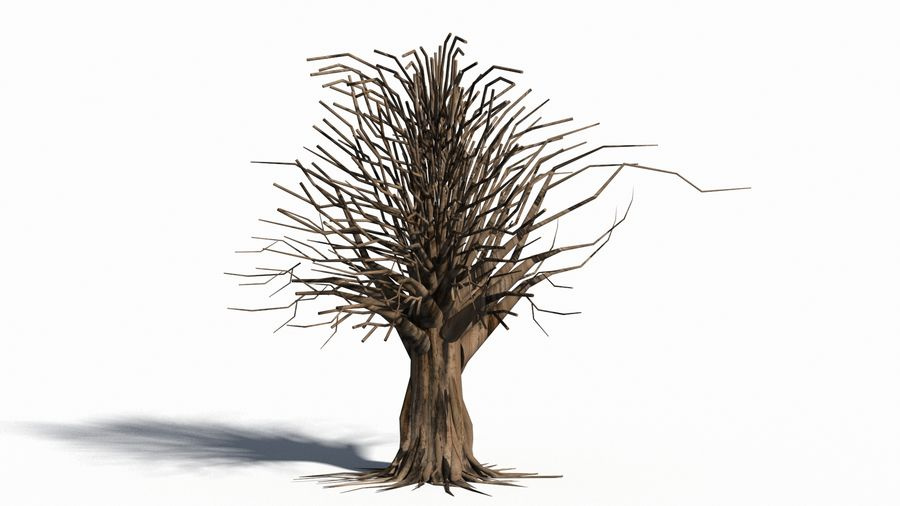 Árbol realista royalty-free modelo 3d - Preview no. 14