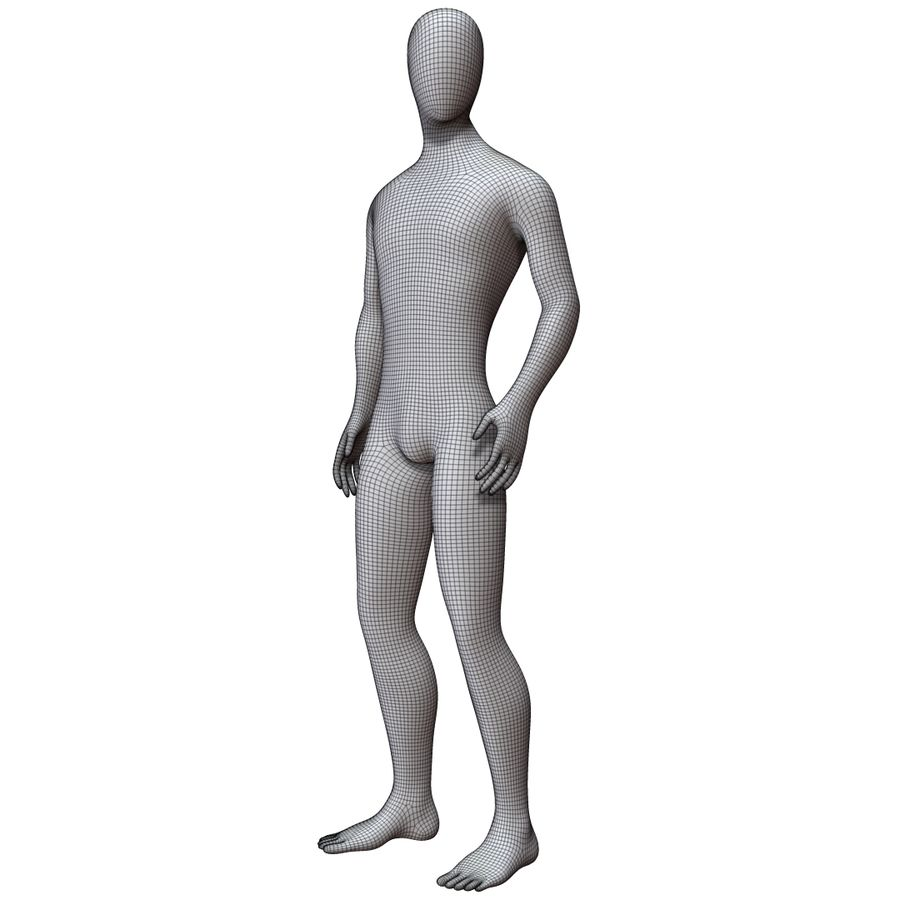 Mannequin Homme royalty-free 3d model - Preview no. 18