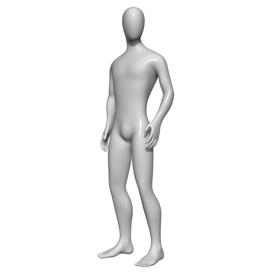Mannequin Homme royalty-free 3d model - Preview no. 8