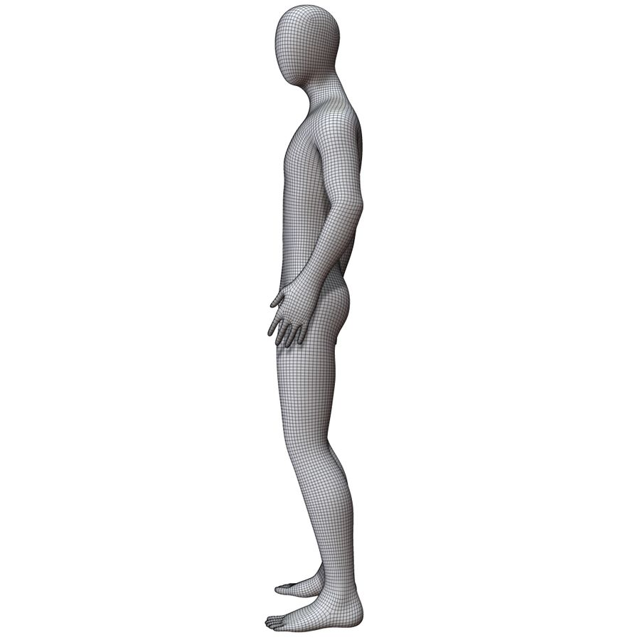 Mannequin Homme royalty-free 3d model - Preview no. 17