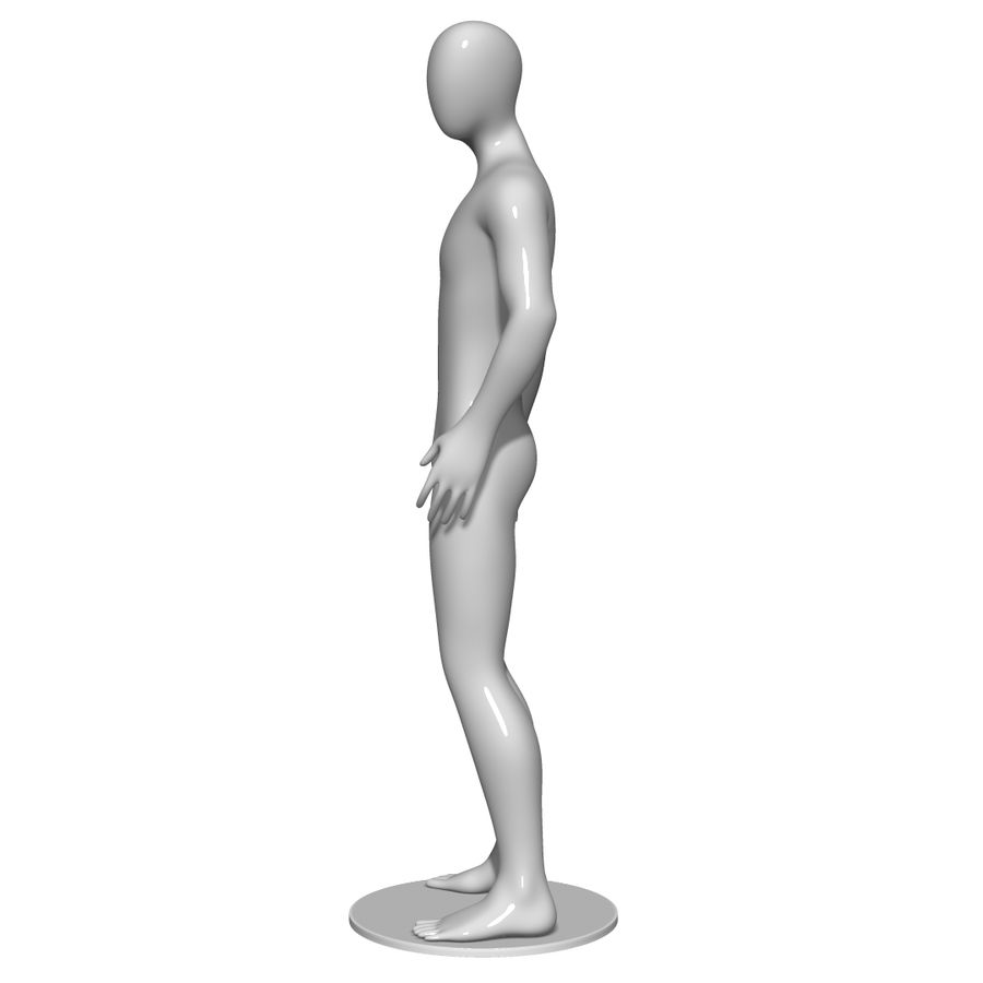 Mannequin Homme royalty-free 3d model - Preview no. 7