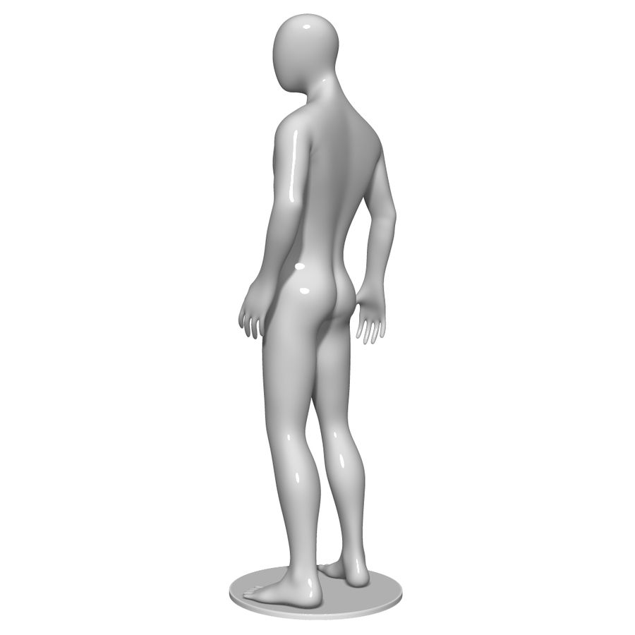 Mannequin Homme royalty-free 3d model - Preview no. 6