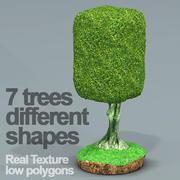 7つのイチジクの木HD 3d model