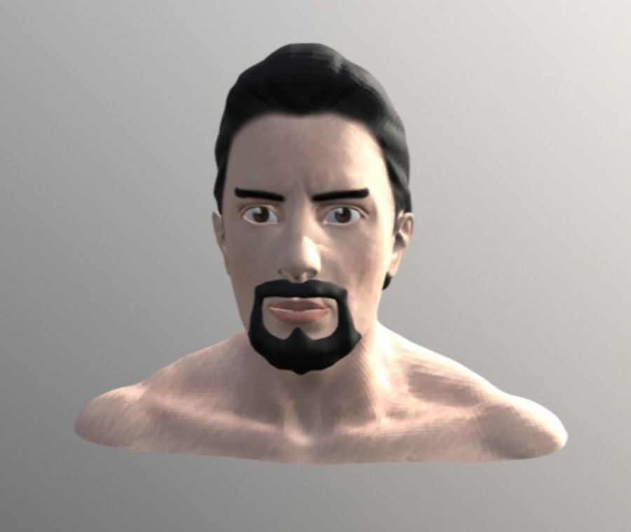 TONY STARK FACE royalty-free 3d model - Preview no. 1