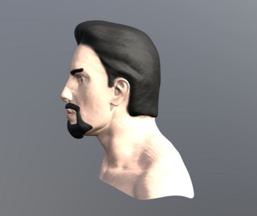 TONY STARK FACE royalty-free 3d model - Preview no. 2