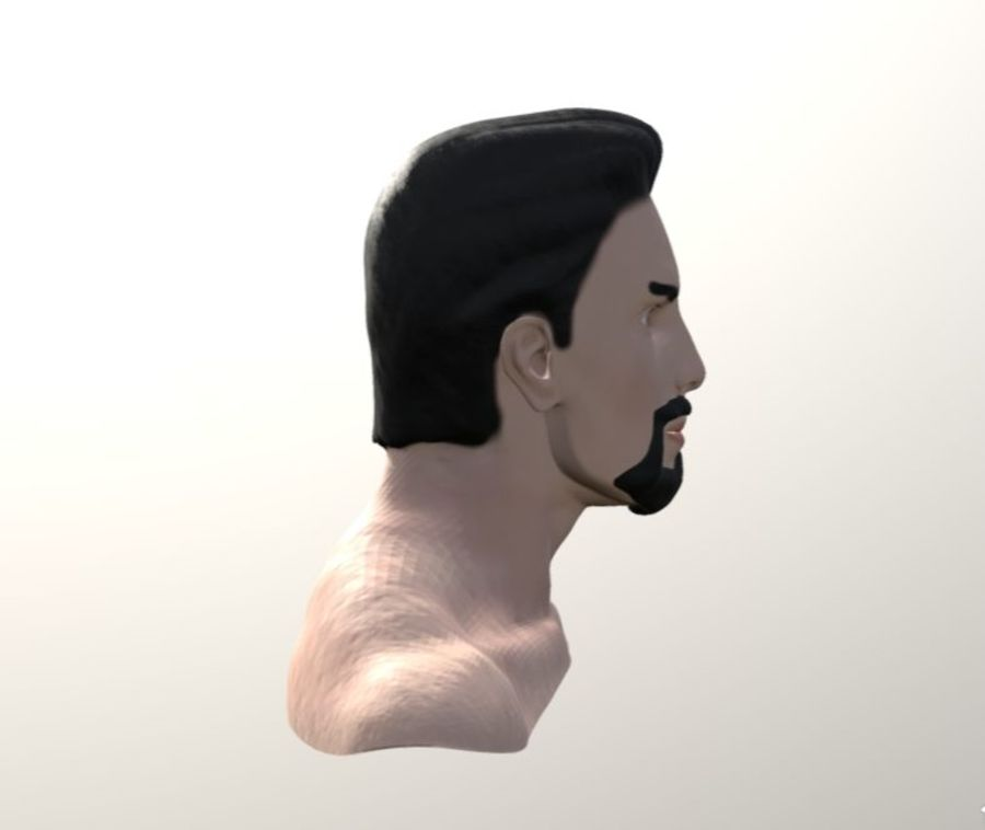 TONY STARK FACE royalty-free 3d model - Preview no. 3