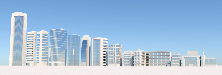 City Buildings Pack royalty-free 3d model - Preview no. 5