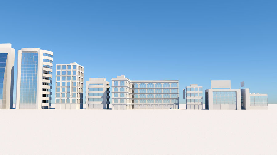 City Buildings Pack royalty-free 3d model - Preview no. 3