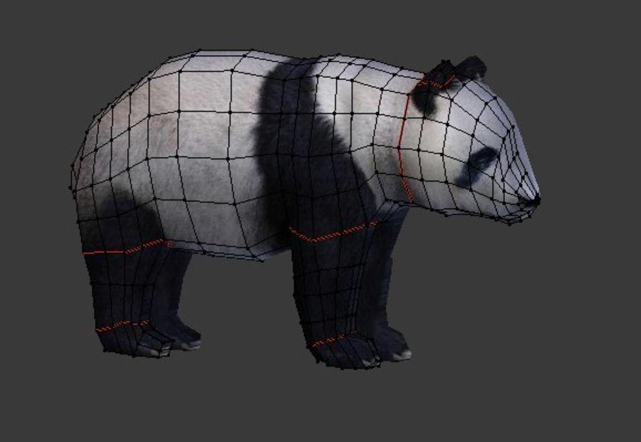 Urso panda royalty-free 3d model - Preview no. 1