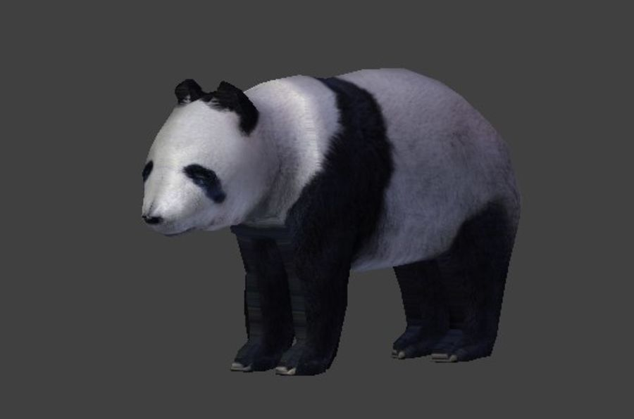 Urso panda royalty-free 3d model - Preview no. 4