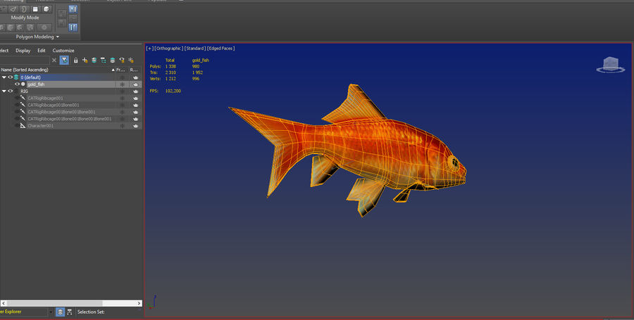 Gold Fish royalty-free 3d model - Preview no. 8