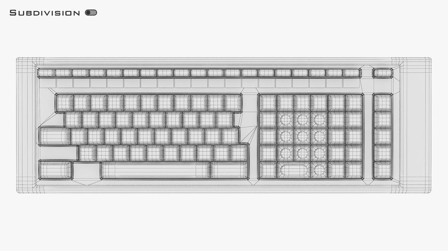 Keyboard v 2 royalty-free 3d model - Preview no. 31