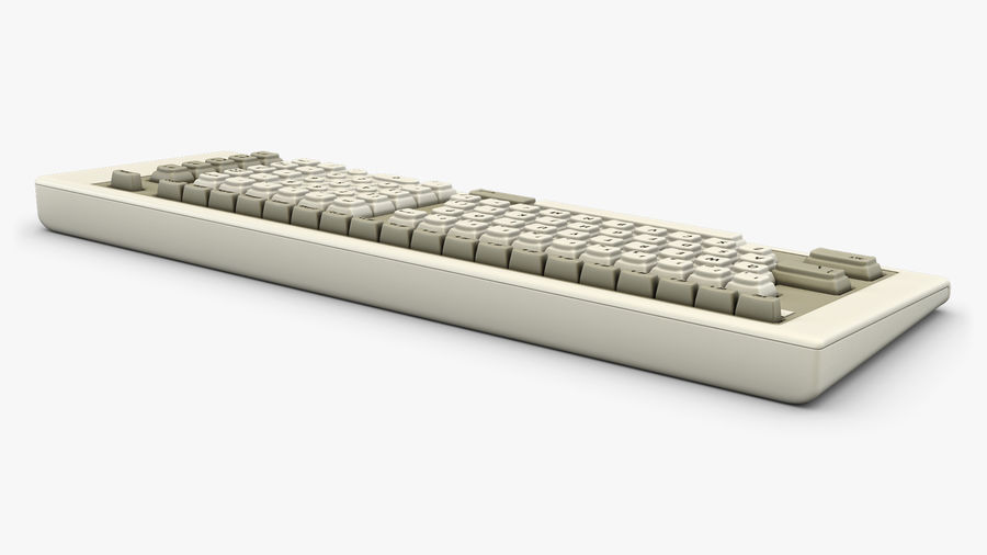 Keyboard v 2 royalty-free 3d model - Preview no. 8