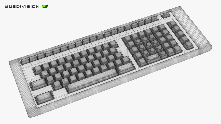Keyboard v 2 royalty-free 3d model - Preview no. 16