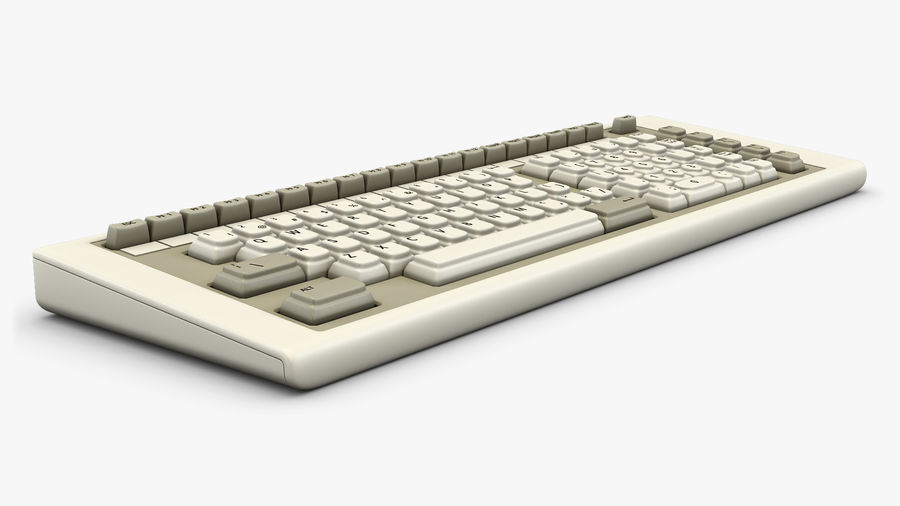 Keyboard v 2 royalty-free 3d model - Preview no. 6