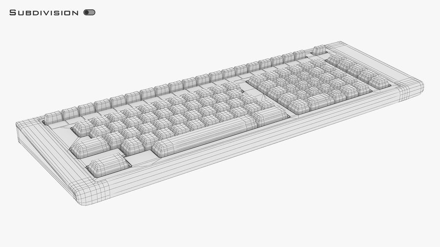 Keyboard v 2 royalty-free 3d model - Preview no. 21