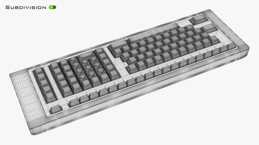 Keyboard v 2 royalty-free 3d model - Preview no. 18