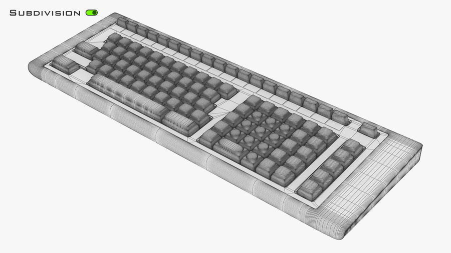 Keyboard v 2 royalty-free 3d model - Preview no. 12