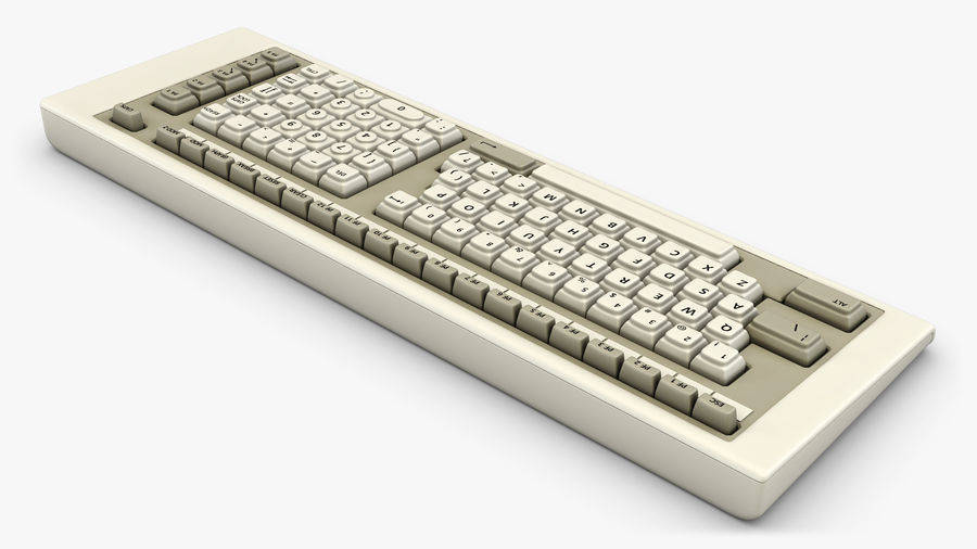 Keyboard v 2 royalty-free 3d model - Preview no. 2