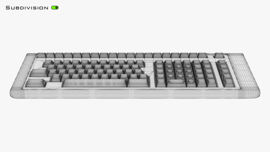 Keyboard v 2 royalty-free 3d model - Preview no. 28