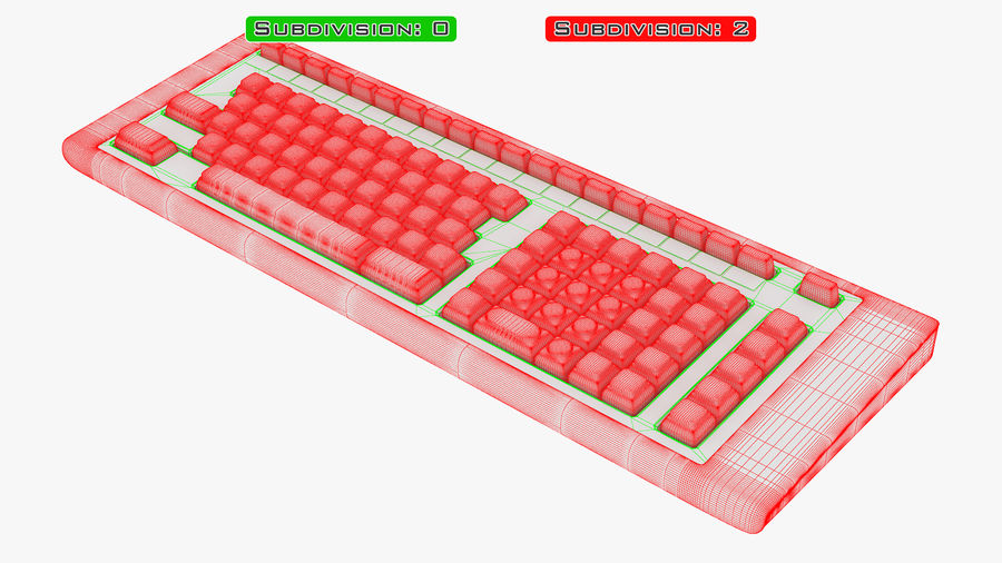 Keyboard v 2 royalty-free 3d model - Preview no. 34