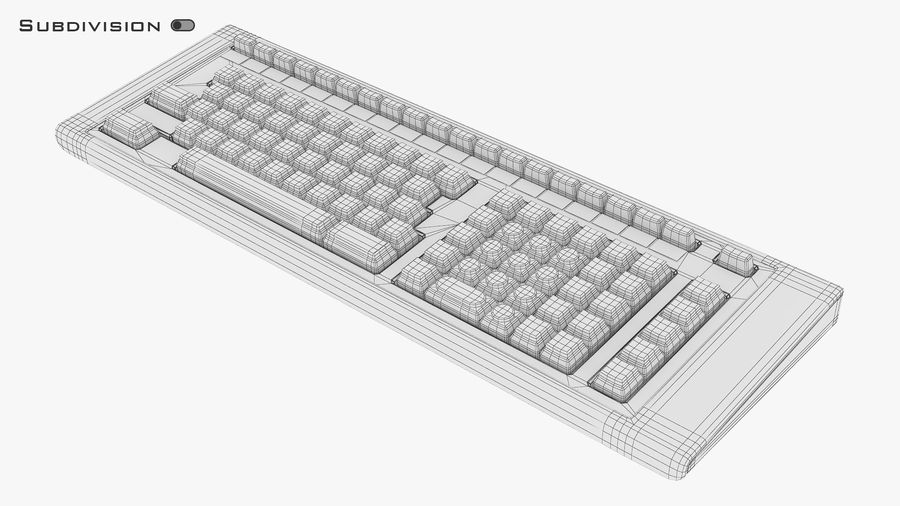 Keyboard v 2 royalty-free 3d model - Preview no. 13