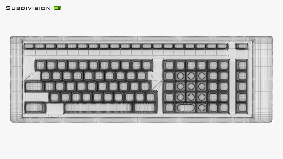 Keyboard v 2 royalty-free 3d model - Preview no. 30