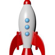 Rocket Cartoon 3d model