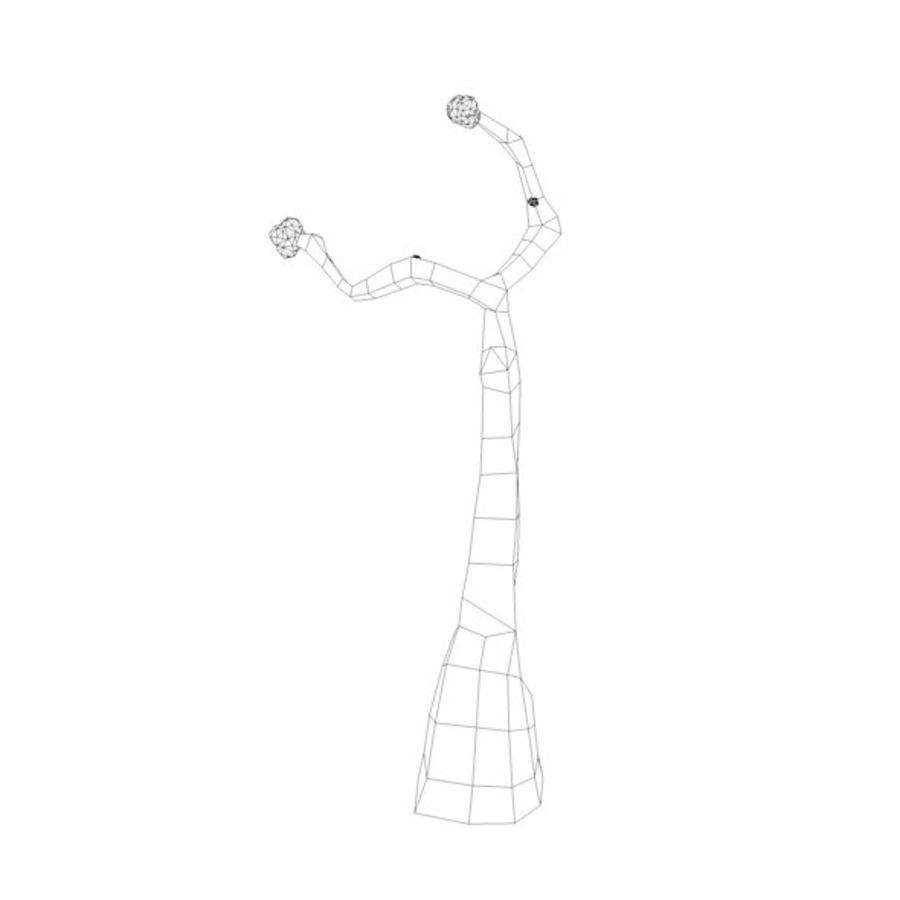 Stades de croissance des arbres Low poly royalty-free 3d model - Preview no. 18